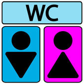 Male and female restroom symbol icons — Vetorial Stock