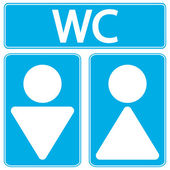 Male and female restroom symbol icons — Stockvector