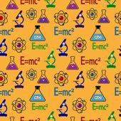 Seamless pattern di scienza. — Vettoriale Stock