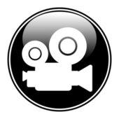 Botão de câmera de vídeo — Vetor de Stock