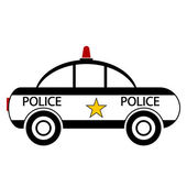 Police car icon — Stock Vector