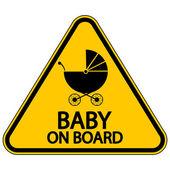 Baby on board sign — Vector de stock