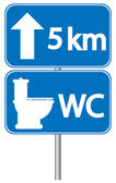 Toilet roadsign — Vector de stock