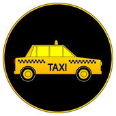 Taxi car button — Stock Vector