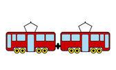 Tram icon — Stock Vector