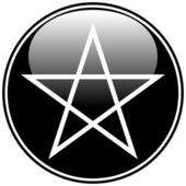 Pentagram icon — Stock Vector