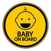 Baby on board sign — Stock Vector