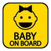 Bebé a bordo de señal — Vector de stock