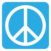 Peace symbol button — Stock Vector