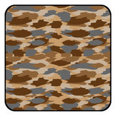 Camouflage button — Stock Vector