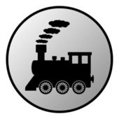 Locomotive button — Stock Vector