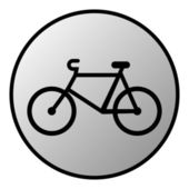 Bike button — Vettoriale Stock