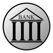 Bank button — Stock Vector