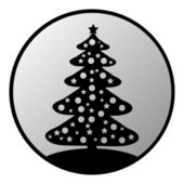Christmas Tree button — Stock Vector