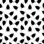 Beetles seamless pattern — Stock Vector