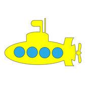 Yellow submarine icon — Stock Vector