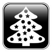 Icône de l'arbre de noël — Vecteur