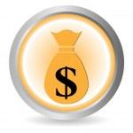 Money button — Stock Vector #7637378