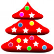 Decorated christmas tree — Stock Vector #7980104