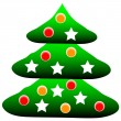 Decorated christmas tree — Stock Vector #7980108