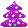 Decorated christmas tree — Stock Vector #7980116