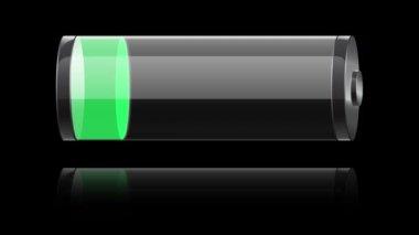 Carregamento de bateria de vidro verde — Vídeo Stock