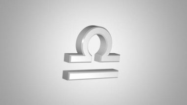Libra (The Scales) zodiac symbol — Stock Video