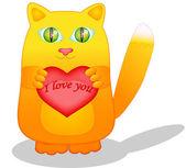 Cat in love — Stock Vector