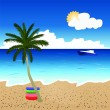 Beautiful beach landscape — Stock Vector