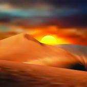 Sand desert — Stock Vector