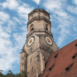 Stiftskirche (Collegiate Church) : North Tower (closeup view) — Stock Photo