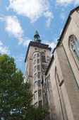 Stiftskirche (Collegiate Church) : Est Tower (closeup view) — Stockfoto