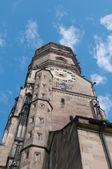 Stiftskirche (Collegiate Church) : North Tower (closeup view) — Stock Photo