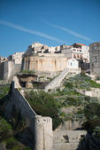 Rampart of the old town of Bonifacio, Corsica France — Stock Photo