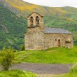 Famous church in Vall de Boi, Catalonia - Stock Photo