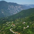 Bird's eye view on landscape in Montenegro — Stock Photo