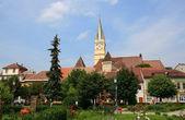 Gothic style church in Medias — Stock Photo