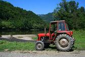 Eski tarım traktör — Stok fotoğraf