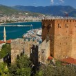 Red Tower in the Center of Alanya — Stock Photo