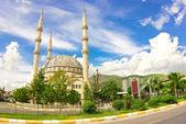 Vista da mesquita em anamur — Fotografia Stock