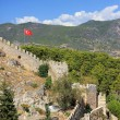 Stock Photo: Fortress in Alanya