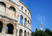 Center of Pula in Croatia — 图库照片