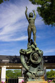 Pomnik kobiety w madrycie — Zdjęcie stockowe