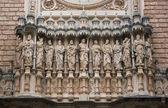 Facade of Santa Maria de Montserrat monastery — Stock Photo