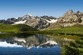 Lac de montagne dans les alpes suisses — Photo