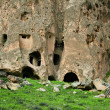 Ancient caves in Ihlara valley — Stock Photo