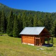 Hut in the mountans — Stock Photo