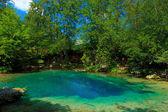 Blue eye lake — Stock Photo