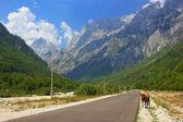Road in Albanian Alps — Stock Photo