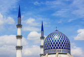 Blue Mosque in Shah Alam — Stock Photo